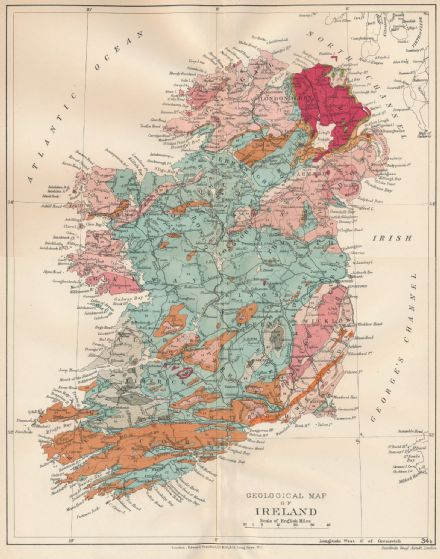 Stanford's Geological Map of Ireland - Historical